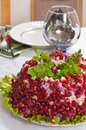 Salad With A Pomegranate. Stock Image - 8451041