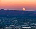 Super Moon Rising In Orange COunty Royalty Free Stock Photo - 84504015