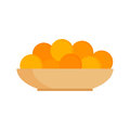 Fresh Tangerines Oranges On Plate Vector Illustration. Stock Photos - 84518483