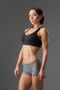 Beautiful Fit Girl In Sport Bra And Shorts Royalty Free Stock Images - 84519469
