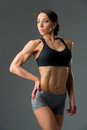 Beautiful Fit Girl In Sport Bra And Shorts Stock Photos - 84519593
