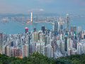 Aerial View, Hong Kong Office Building Over Victoria Bay Stock Image - 84522931