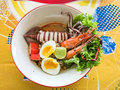 Thai Style Noodle With Egg And Seafood Royalty Free Stock Photography - 84523837