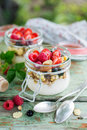 Yoghurt With Fresh Berries Royalty Free Stock Photo - 84525575