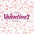 Vector Colorful Happy Valentines Day Card Seamless Pattern Hearts Background. Stock Photo - 84525630