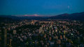 Santiago Aerial View From The Costanera Center At Sunset, Santia Royalty Free Stock Photography - 84543667
