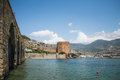 Alanya Medieval Castle Which Includes Red Tower Shipyard By Sea Stock Photos - 84556833