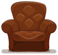 Brown Armchair On White Background Stock Image - 84570541