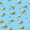 Bee Seamless Pattern Stock Images - 84581514