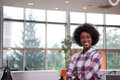 Portrait Of A Young Black  Casual Business Woman Royalty Free Stock Images - 84585709