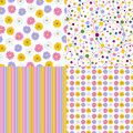 Set Of Four Seamless Pattern. Stock Images - 84590344