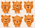 Creation Set Of Teddy Bear Characters With Different Emotions Royalty Free Stock Images - 84596469