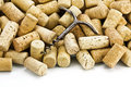 Old Corkscrew And Wine Corks Royalty Free Stock Photography - 8460797