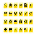 Yellow Icon Set Royalty Free Stock Image - 8461416