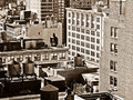 Sepia Shot Of Manhattan Roof Tops Stock Photography - 8467832