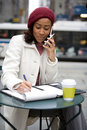 Woman On Her Cell Phone Royalty Free Stock Photo - 8468735