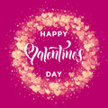 Happy Valentine Day Golden Hearts Pattern Greeting Card Royalty Free Stock Images - 84601749