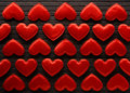 Red Hearts Made Of Cloth Stock Photo - 84617610