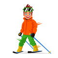 Little Happy Skier. Sports Concept Stock Images - 84633914