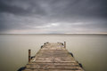Storm Over Albufera With Wooden Pier, Valencia Royalty Free Stock Photos - 84639698