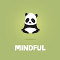 Cute Cartoon Illustration Of Panda Meditating And Levitating Royalty Free Stock Images - 84645259