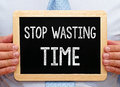 Stop Wasting Time Royalty Free Stock Photo - 84647045