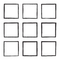 Set Hand Drawn Square. Royalty Free Stock Images - 84655759