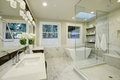 Amazing Master Bathroom With Large Glass Walk-in Shower Stock Photography - 84664952