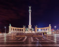 Heroes Square Monument In Budapest Hungary Royalty Free Stock Photos - 84677798