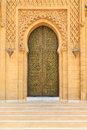 Old Entrance Door  At The Royal Palace In Morocco Fes Stock Photos - 84685053