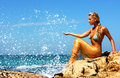Mermaid At Beach Royalty Free Stock Photos - 8471288