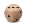 Single Wooden Dice On White Background Royalty Free Stock Images - 84727979