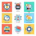 Flat Color Line Design Concepts Vector Icons 27 Stock Photo - 84728920