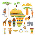 Africa Symbols And Travel Vector Set. Stock Photo - 84736660