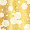 Vector Golden Abstract Swirls Seamless Pattern Background. Great For Elegant Gold Texture Fabric, Cards, Wedding Stock Photos - 84743203