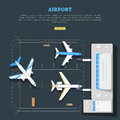 Airport. Aircraft Location. Marking. Emplanement Royalty Free Stock Images - 84745749