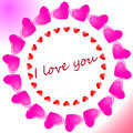 Heart Icon Color Design Pattern Circle Shape Pink   On White  Background Stock Image - 84746421