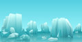 Cartoon Nature Winter Arctic Ice Landscape With Iceberg, Snow Mountains Rocks Hills. Vector Game Style Illustration. Royalty Free Stock Photos - 84753538