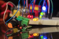 Luminous LEDs And Electronic Components Stock Photos - 84763033