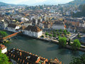 Aerial View Of Lucerne, Switzerland 2 Royalty Free Stock Images - 8481279