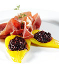 Ham With Pear And Berries Stock Image - 8482371