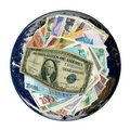 Currencies From Around The World, Paper Banknotes. Royalty Free Stock Photos - 8487978