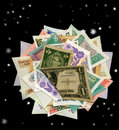 Currencies From Around The World, Paper Banknotes. Royalty Free Stock Images - 8487989