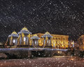 Magic Christmas Night In  St. Petersburg, Winter In Russia Royalty Free Stock Images - 84810359