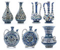Set Of Three Old Vintage Vases With Islamic Quotes & Ornaments Stock Photography - 84811432