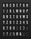 Airport Mechanical Flip Board Panel Font Royalty Free Stock Photography - 84826867