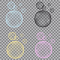 Fizzy Blue, Yellow, Pink,  Black Bubbles On Transparent Backgro Stock Photo - 84840290