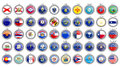 Set Of Icons. States Of The USA Flags. Royalty Free Stock Photo - 84847935
