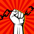 Breaking Chain Protest, Rebel Vector Poster Stock Photo - 84854240