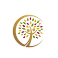 Golden People Tree Icon Royalty Free Stock Photo - 84878165
